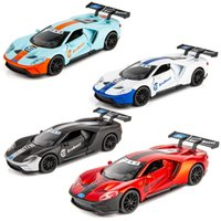 Wholesale toy machine wheels for sale - Group buy 1 Ford GT Musical Lighting Machine Diecasts Toy Vehicles Hot Wheel Car Model With Car Hot Wheel Doors Can Be Opened