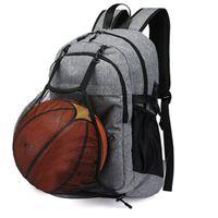 spor sırt çantası bisikleti toptan satış-Su geçirmez Sırt Çantası Yürüyüş Çantası Bisiklet Tırmanışı Basketbol Seyahat Açık Çanta Erkek Kadın USB Şarj Anti Hırsızlık Spor Çanta # g4