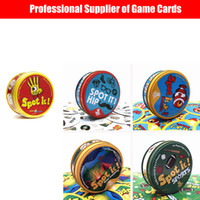 Wholesale spot paper for sale - Group buy Spot It Board Spot Cards Game Fast Paced action game The smash hit game adapted for younger children