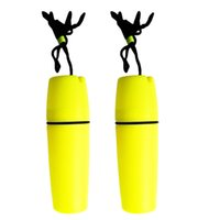 sarı su geçirmez kasa toptan satış-Perfeclan 2 adet Su Geçirmez Yüzme Tüplü Dalış Kuru Konteyner Vaka Kuru Şişe Tutucu Sarı