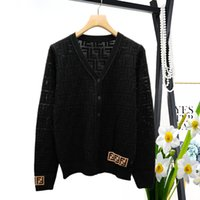Wholesale hole card for sale - Group buy 2019 Spring Womens Designer T Shirts Dark Hole Perforation Letter Hollow Sweater Short Sleeve Ice Silk Card Cardigan Sweater Women Clothes