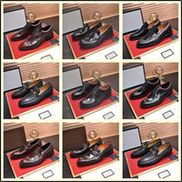 Wholesale orange glitter wedding for sale - Group buy 40ss models Italian Luxury Designer leather dress shoes Top Leather wedding party men shoes suede fashion loafers heel shoes MADAOB