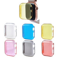 Wholesale Protective Cases for Apple Watch Series Cover mm mm Colorful Clear PC Case for iWatch Anti drop hard shell