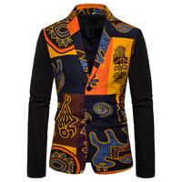 abrigos de noche de la vendimia al por mayor-Mens Vintage Blazer abrigos estilo chino chaquetas de vestir de negocios casual chaquetas del collar del soporte macho Slim Fit Traje de noche de la chaqueta