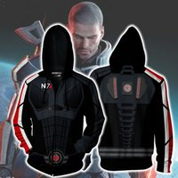 Wholesale mass effect for sale - Group buy Movie MASS EFFECT Sweatshirts Hoodie Cosplay Costume Jackets Zipper Hoded