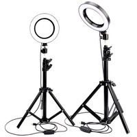 Wholesale lighting for photo resale online - LED Ring Light Photo Studio Camera Light Photography Dimmable Video light for Youtube Makeup Selfie with Tripod Phone Holder