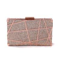 embreagem vermelha arruinada venda por atacado-saco jantar saco novo artesanal de metal criativo saco pequeno quadrado net