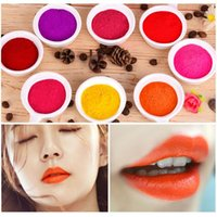 Wholesale dark purple lipstick makeup resale online - DIY Lipstick Pigment Powder Lip Gloss Pigment For DIY Lipgloss Powder Red Pink Make Up Tools Makeup Comestics Gloss