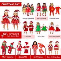 roupa da menina do ajuste venda por atacado-Moda vestir roupas se encaixam com a American menina boneca 50cm roupas de boneca e presentes Acessórios Vestidos de Natal Dolls
