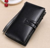 Wholesale multi coins slot for sale - Super value female long wallets waxed cow leather cm length multi slots casual cluth absolutly best prices