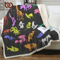 Wholesale alphabets animal cartoon for sale - Group buy BeddingOutlet Alphabet Furry Blanket Letters Plush Blanket for Kids Colorful Sherpa Fleece Cartoon Animal Custom