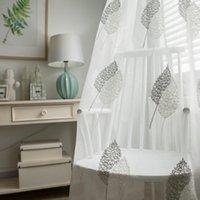 écrans de bambou achat en gros de-Rideaux pour Salon Salle à manger Chambre moderne Boutique Minimaliste coton-lin écran bambou fenêtre