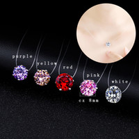 Wholesale gold pink rings for women online - Cheap New Bridal Shiny mm Crystal Pendants Necklace For Woman Invisible Fishline Rhinestone Necklace Girls Gifts Wedding Jewelry FC29I