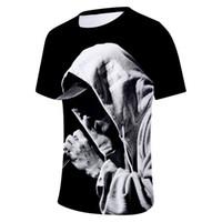Wholesale eminem clothes resale online - Eminem D Printed Designer Tshirts Mens Clothing Summer Fashion O neck Short Sleeved Tops