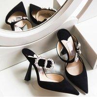 hochzeitsband sandsandalen großhandel-Mode Abendgesellschaft Schuhe Für Frauen Damen Sandalen High Heels Samt Hochzeit Schuhe Drei Farben Hochzeit Brautschuhe