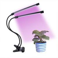 par38 wachsen licht großhandel-Dimmbare Zeitmessgeräte Light Clip Plant Light Double Plant Growth Fill Light Schwarz Geeignet für den Innenbereich
