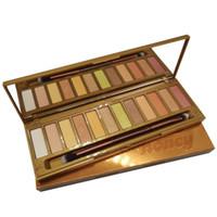 Wholesale golden eyeshadow palette for sale - Group buy Hot makeup Honey Eyeshadow Palettes Colors Golden Neutrals Palette matte Waterproof Long lasting Eye Shadow plus Brush DHL