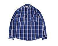 camisa de franela azul de los hombres al por mayor-2019 Top Fear Of God Hip Hop Plaid Shirts New Justin Bieber Fog Men Camisa a cuadros de franela unisex de manga larga Camisa casual azul roja