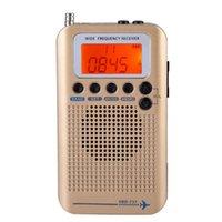 radyo havası toptan satış-Taşınabilir Uçak Radyo Alıcısı, Tam Bant Radyo Alıcısı - HAVA / FM / AM / SW / VHF, aydınlatmalı LCD ekran, Chip Güçlü Has / CB