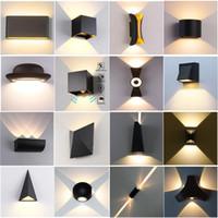 led ayna ışıkları yatak odası toptan satış-Kapalı Açık Merdiven Banyo Bahçe Sundurma Yatak Ayna Lambası LED Duvar Işık 85-265V IP65 su geçirmez alüminyum Duvar Lambası