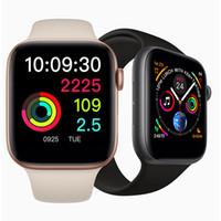 iwatch akıllı saat toptan satış-IPhone iWatch IWO 9 Akıllı İzle 44mm Serisi 4 1to1 Bluetooth Smartwatch Nabız Spor Kol iPhone Samsung Için