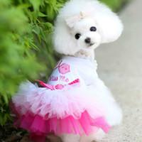 roupas para cachorros venda por atacado-Roupa Tulle Lips cachorro do cão vestido de roupa meninas Pet Dog Costume Vestido Cat Tutu Roupa Pet Shop Princesa