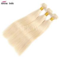 ingrosso prezzo dei capelli vietnamiti-100% capelli umani intreccia i capelli vergini peruviani lisci / body wave con i capelli del bambino 613 fzp199 biondo