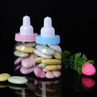 kız duşu iyilikleri toptan satış-120pcs / Lot Bebek Hediye Süt Şişesi Şeker Kutusu Depolama Şişe Boy Kız Vaftiz Vaftiz Brithday Parti Şeker Kutusu Favors