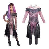 vestido de princesa carnaval adolescente al por mayor-3 descendientes de la princesa vestido para carnaval traje de cosplay adolescente de Halloween Fiesta de Año Nuevo Mal Kid Evie mono niño Disfraz ropa