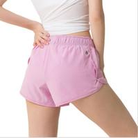 farbe schnell großhandel-Damenmode Stretch Laufen Neue Yogahosen Einfarbig Casual Sport Shorts Frauen Anti-Licht-Training Fitness Schnell trocknend Breathab