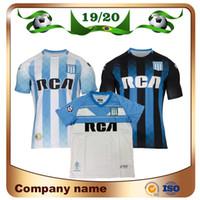 ingrosso corsa jersey-2020 Racing Club de Avellaneda Maglia da calcio casalinga 19/20 Racing Away # 7 BOU # 8 FERNANDEZ # 10 CENTURION 3rd Football uniforme