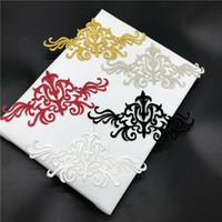 parche de encaje al por mayor-Ventas calientes Flow Flowers Paño Bordado Patch Nice Design Gold Lace Apliques Trim para vestidos Accesorios