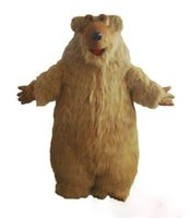 mascotes de urso adulto venda por atacado-Custom Hairy Bear traje da mascote tamanho adulto frete grátis
