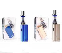 Wholesale e cig lite resale online - Jomo lite w mod starter kit jomo mini lite e cig box mod vaporizer kits with w mod bulit in battery ml Lite tank
