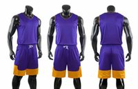 Wholesale top purple basketball jerseys for sale - Group buy Personality Customized two sided Basketball Jerseys Short sleeved Sets tops With Shorts Customized mens Basketball kits Sports tracksuits