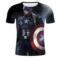 diseño de impresión de la camiseta para hombre al por mayor-Marvel Heroes T Shirt Hombres Camisetas con estampado 3D Superman Tee Captain America T-Shirt Ropa para hombre Cool Design Summer Tops S-5XL 8 estilos