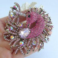 Wholesale horse pin rhinestones for sale - Group buy 3 quot Horse Unicorn Brooch Pin Pendant w Pink Rhinestone Crystals EE05954C5