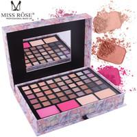 Wholesale handmade cosmetic bags resale online - MISS ROSE pink handmade makeup set cosmetic bag makeup artist special shrinking makeup box