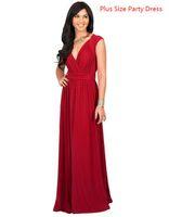 robe d'usure supplémentaire achat en gros de-Robes de soirée pour femmes plus grande taille col en V New Fat Lady Wear M-3XL robe grande taille supplémentaire pour femme maxi
