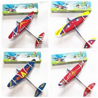 brinquedo elétrico crianças venda por atacado-Crianças Brinquedo Avião Elétrico Modelo de Avião Mão Jogue Avião de Espuma de Lançamento Planador Voador Avião Ao Ar Livre Jogo Interessante Brinquedos MMA1897