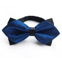 pajarita azul paisley al por mayor-Pajarita de los hombres Negro Púrpura Azul Paisley Bowtie Boda de Negocios Bowknot Flor Lazos para los accesorios del partido del novio