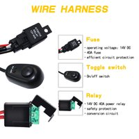 Wholesale relay wiring kit for sale - Group buy Drop Ship Wiring Harness Wire Switch Relay Kit for Connect Work Driving LED Light Bar Car Spotlight V Best