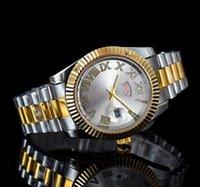 мужские фиолетовые часы оптовых-Новые 40MM мужская мода большой стол зеленый фиолетовый нержавеющей стали высокого качества мужские кварцевые часы мужские часы марки серебро