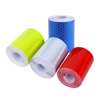 Wholesale tape aluminum resale online - Safety Mark Reflective Tape Stickers Car Styling Self Adhesive Warning Tape Automobiles Motorcycle Reflective Film