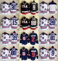parise usa hockey jersey großhandel-2010 Team USA Eishockey Trikot Zach Parise Jamie Langenbrunner Brian Rafalski Tim Thomas Ryan Killer Patrick Kane Brett Hull