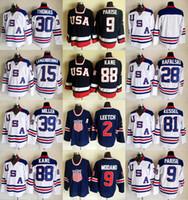 ingrosso kane usa hockey jersey-Maglia Team Hockey su ghiaccio 2010 Team Zach Parise Jamie Langenbrunner Brian Rafalski Tim Thomas Ryan Miller Phil Kessel Patrick Kane Brett Scafo