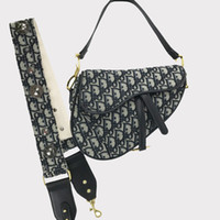 alças de ombro para laptop venda por atacado-Cell Phone Saddle Bag Retro Bolsas Handbag bordado Vintage Crossbody Bag para as Mulheres D Palavra Horseshoe fivela larga Shoulder Strap Pulseira