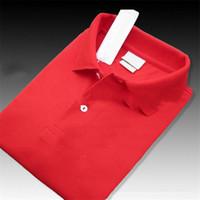 chemises pour hommes de marque achat en gros de-2019 Marque Designer D'été Polo Tops Broderie Mens luxe Polo Shirts Chemise De Mode Hommes Femmes High Street Casual Top Tee