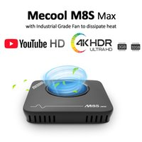 Wholesale m8s tv boxes resale online - Mecool M8S Max TV Box Amlogic S912 GB RAM GB ROM G WIFI bluetooth Android K VP9 H TV Box