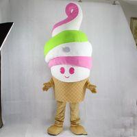 fabrik eis großhandel-2019 Fabrik heiße EVA Material Eis Maskottchen Kostüme Cartoon Bekleidung Geburtstagsfeier Maskerade